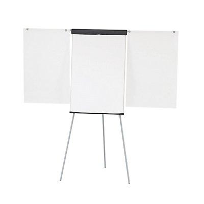 MAUL Flipchart, dreibeinig - Höhe 1860 mm, mit 2 Papierhaltern, weiß