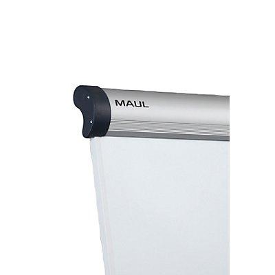 MAUL Flipchart, dreibeinig - Höhe 1965 mm, mit 2 Papierhaltern, weiß