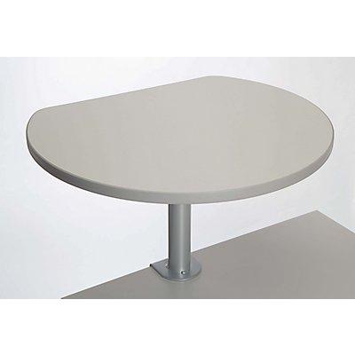 MAUL Tischpult mit Klemmfuß - Platte melaminharzbeschichtet, Frontfarbe Grau