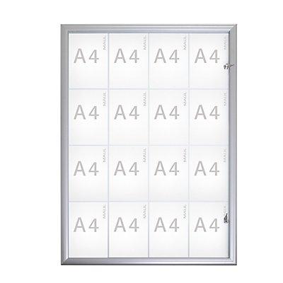 MAUL Schaukasten, Außentiefe 35 mm - Außenhöhe 1286 mm, 16 x DIN A4