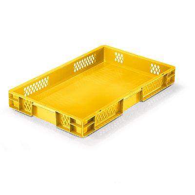 Euro-Format-Stapelbehälter, Wände durchbrochen, Boden geschlossen - LxBxH 600 x 400 x 75 mm