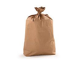 Sacs-poubelle - en papier - capacité 120 l, lot de 100