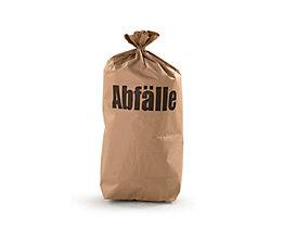 Sacs-poubelle - en papier - capacité 70 l, lot de 100