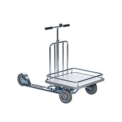 Rollerwagen MODELL 86 - 3 Räder, mit Ladefläche - Klingel und Fußbremse