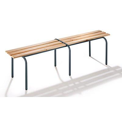 Garderobenbank, stapelbar - Massivholzleisten klarlackiert, Länge 1600 mm