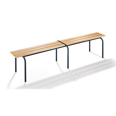Garderobenbank, stapelbar - Massivholzleisten klarlackiert, Länge 2000 mm