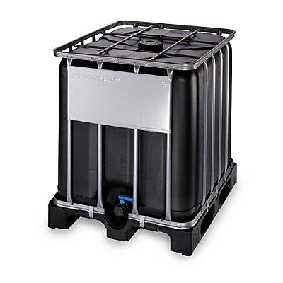 WERIT IBC-Container mit UV-Schutz, 1000 l - Containerfarbe schwarz