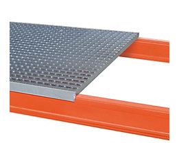 Gitterrostboden, verzinkt/aufgelegt - Ausführung 2-teilig, für Regaltiefe 800 mm