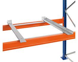 Container-Auflagen, verzinkt - für Stützrahmen-Tiefe 1100 mm, 1 Paar, für Auflageträger-Breite 40 mm