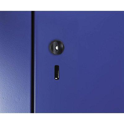 CP Drehzylinderschloss - mit zwei Schlüsseln, schwarz