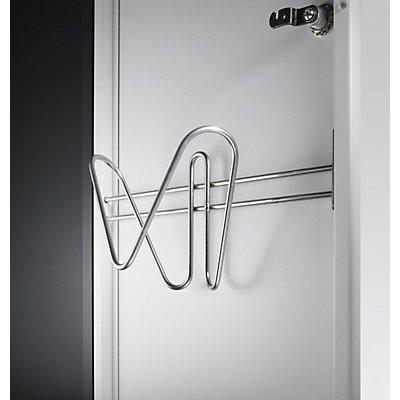 CP Badelatschen- / Schuhhalter - für Stahltür 300 mm, für Abteilbreite 300 mm