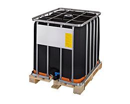 IBC-Container mit UV-Schutz, UN-Zulassung - Containerfarbe schwarz