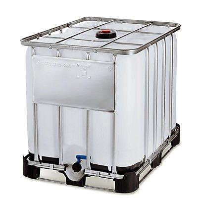 IBC Transport- und Lagertank auf Kombipalette - Inhalt 1000 l, LxBxH 1200 x 1000 x 1163 mm