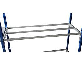 SLP Fachebene für Vielzweck-Steckregal - mit Auflagestäben, Breite 1250 mm - Tiefe 500 mm
