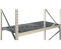 Fachboden-Stahlauflage verzinkt - Tiefe 1000 mm - für Trägerlänge 1500 mm, Set