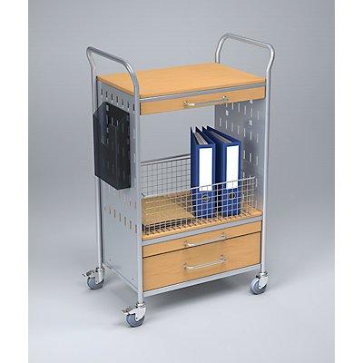 Eurokraft Bürowagen - mit 3 Schubladen und 2 Etagen - Bürowagen
