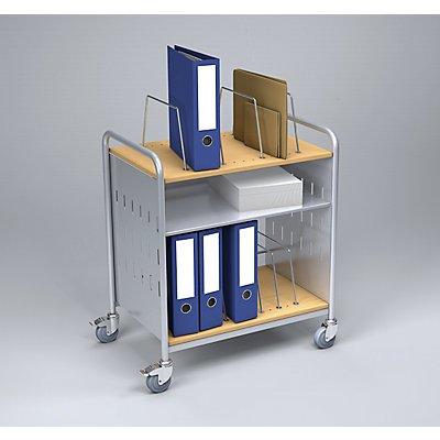 Eurokraft Bürowagen - Büro-Beistellwagen mit 3 Etagen