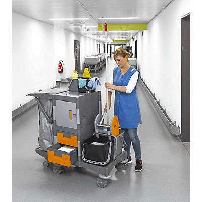 QUIPO Kunststoff-Reinigungswagen - modularer Reinigungswagen