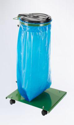 Abfallsackhalter für 120-l-Sack - mit Bodenplatte, fahrbar