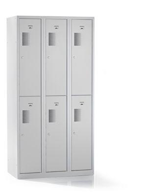 QUIPO Spind, 6 Abteile, Breite 900 mm - HxT 1800 x 500 mm
