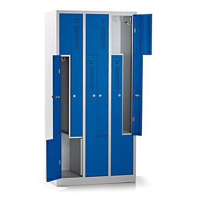 QUIPO Z-Schrank - Breite 1185 mm, 6 Abteile, 6 Türen