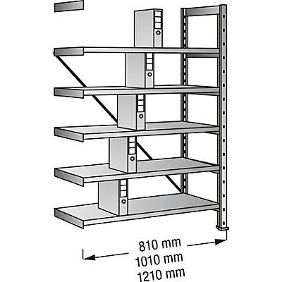Scholz Ordner- und Archiv-Steckregal, verzinkt - Höhe 1920 mm, einseitig