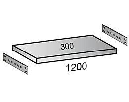 Zusatzboden für Archiv-Steckregal - Tiefe 300 mm - Breite 1200 mm