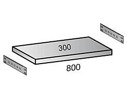 Fachboden für Industriesteckregal - Bodenbreite 800 mm, Tiefe 300 mm