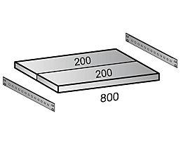 Scholz Fachboden für Industriesteckregal - Bodenbreite 800 mm, Tiefe 400 mm
