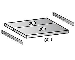 Scholz Fachboden für Industriesteckregal - Bodenbreite 800 mm, Tiefe 500 mm