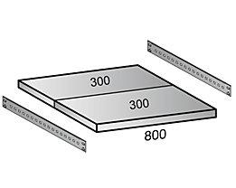 Scholz Fachboden für Industriesteckregal - Bodenbreite 800 mm, Tiefe 600 mm