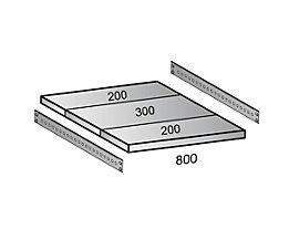 Scholz Fachboden für Industriesteckregal - Bodenbreite 800 mm, Tiefe 700 mm