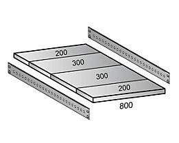 Scholz Fachboden für Industriesteckregal - Bodenbreite 800 mm, Tiefe 1000 mm
