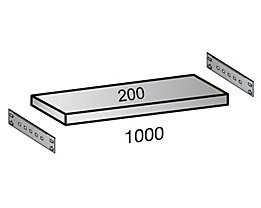 Fachboden für Industriesteckregal - Bodenbreite 1000 mm, Tiefe 200 mm