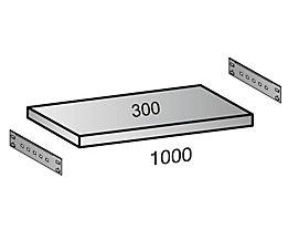 Fachboden für Industriesteckregal - Bodenbreite 1000 mm, Tiefe 300 mm