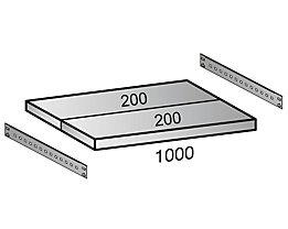Fachboden für Industriesteckregal - Bodenbreite 1000 mm, Tiefe 400 mm