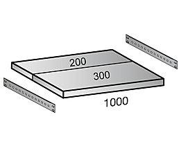 Fachboden für Industriesteckregal - Bodenbreite 1000 mm, Tiefe 500 mm