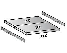 Fachboden für Industriesteckregal - Bodenbreite 1000 mm, Tiefe 600 mm