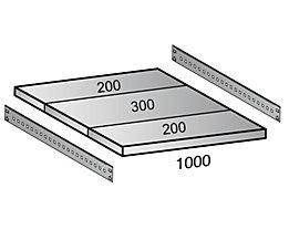 Fachboden für Industriesteckregal - Bodenbreite 1000 mm, Tiefe 700 mm