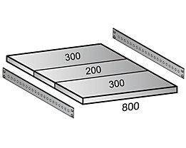 Fachboden für Industriesteckregal - Bodenbreite 1000 mm, Tiefe 800 mm