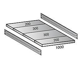 Fachboden für Industriesteckregal - Bodenbreite 1000 mm, Tiefe 1000 mm