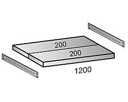 Scholz Fachboden für Industriesteckregal - Bodenbreite 1200 mm, Tiefe 400 mm