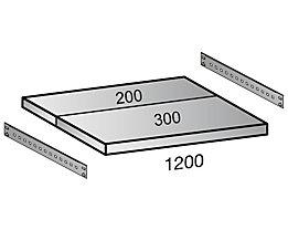 Scholz Fachboden für Industriesteckregal - Bodenbreite 1200 mm, Tiefe 500 mm
