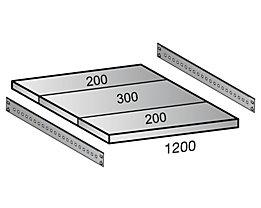 Scholz Fachboden für Industriesteckregal - Bodenbreite 1200 mm, Tiefe 700 mm