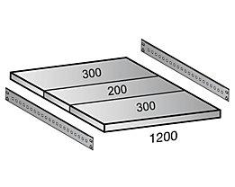 Scholz Fachboden für Industriesteckregal - Bodenbreite 1200 mm, Tiefe 800 mm