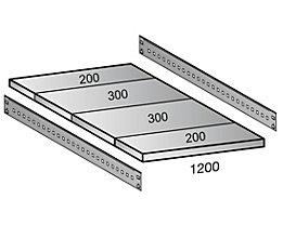 Scholz Fachboden für Industriesteckregal - Bodenbreite 1200 mm, Tiefe 1000 mm