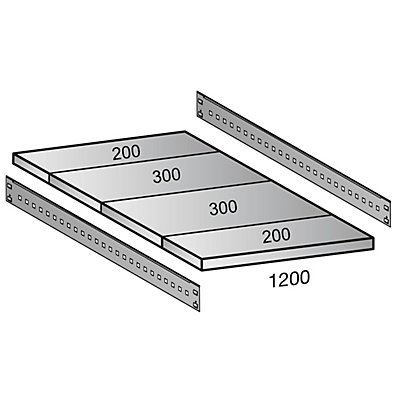 Scholz Fachboden für Industriesteckregal - Bodenbreite 1200 mm