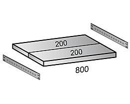 Scholz Fachboden für Cleana-Steckregal - Bodenbreite 800 mm - Tiefe 400 mm