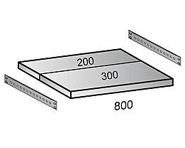 Fachboden für Cleana-Steckregal - Bodenbreite 800 mm - Tiefe 500 mm
