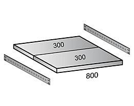 Fachboden für Cleana-Steckregal - Bodenbreite 800 mm - Tiefe 600 mm
